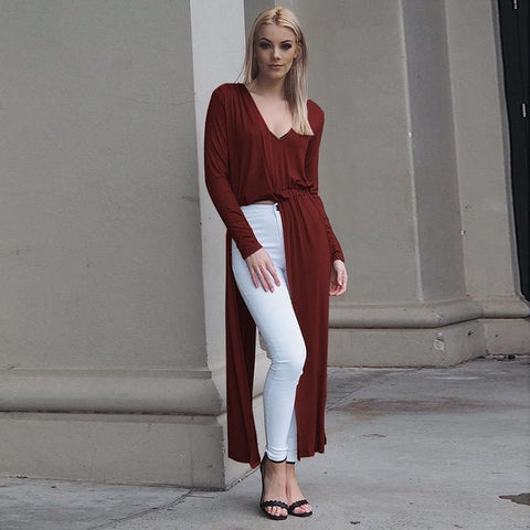 Longline Side-Slit top