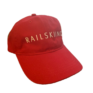 Red RAILSKIING Hat