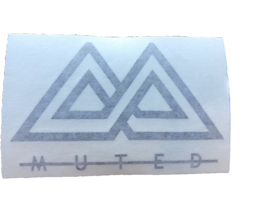 Muted Sticker - Black