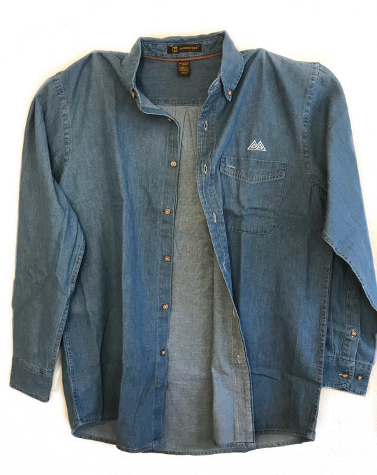 Street Denim Shirt- Blue