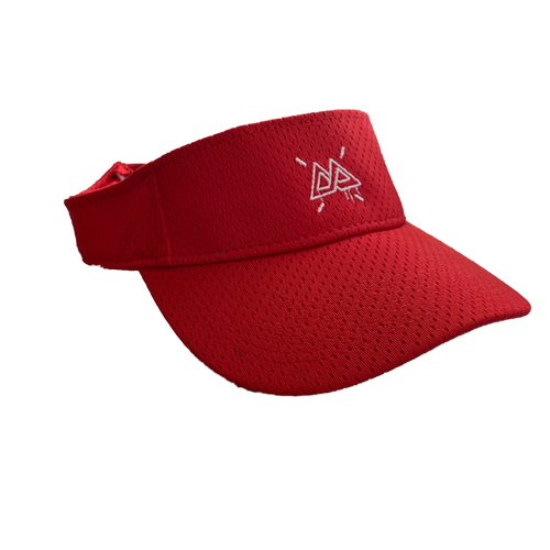 Red Golf Visor