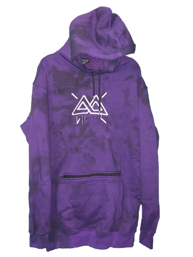 Purple Drip Tall Hood