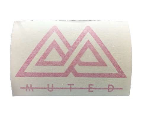 Muted Sticker - Pink