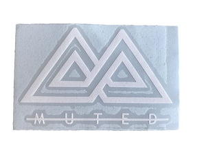 Muted Sticker - White