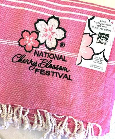 Cherry Blossom Turkish Bath Towel