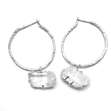 Luminous Quartz Hoops