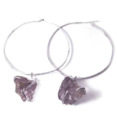Winsome Plum Hoops