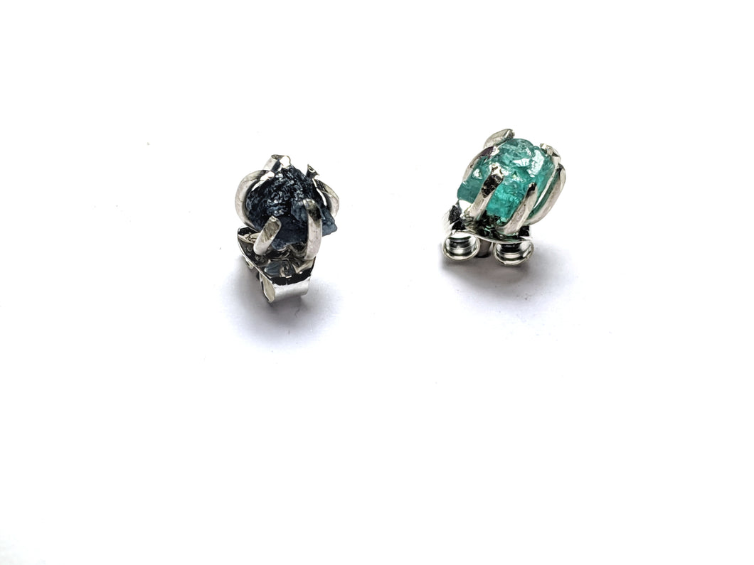 Deception Studs in Sapphire and Apatite