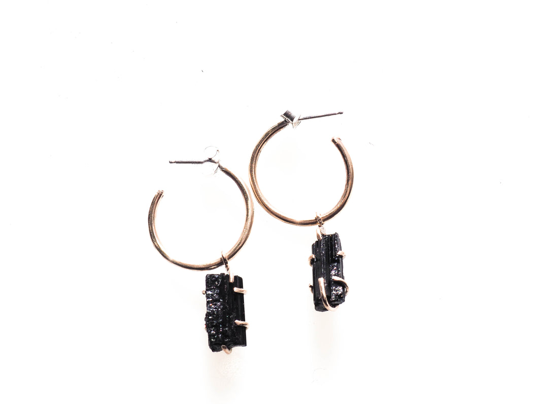 Tourmaline Changeling Hoops