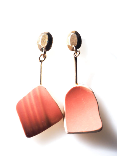 Pink As Coral Earrings