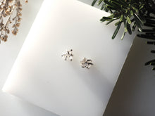 Deception Studs in Herkimer & Silver