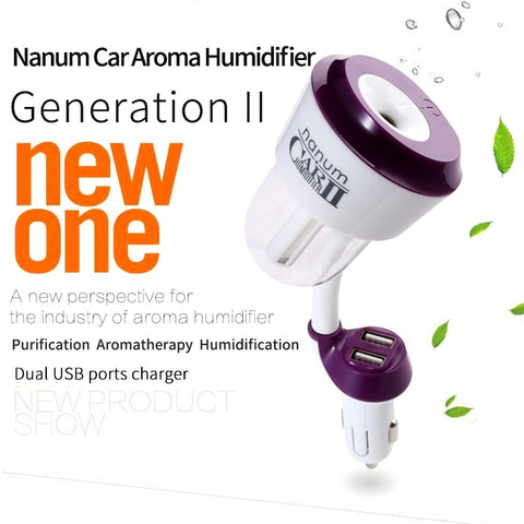 Double USB Interface Car Air Humidifier Essential Aroma Oil Diffuser - Jonjarash Shop