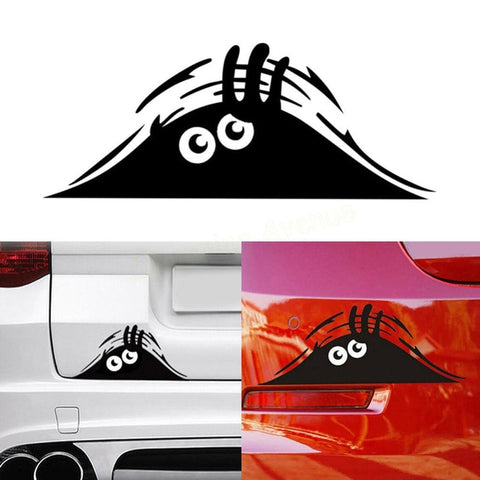 Car Stickers Reflective Waterproof Fashion Funny Peeking Monster - Jonjarash Shop