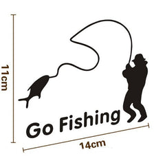 Popular Go Fishing  Vinyl Car Graphics