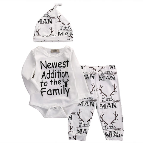 3pc. set New Addition to Family Romper - Jonjarash Shop