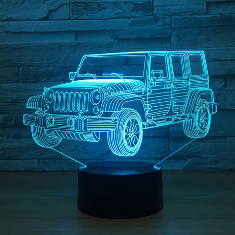3D LED Night Light Gradient Jeep Shape - Jonjarash Shop