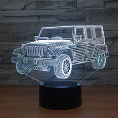 3D LED Night Light Gradient Jeep Shape