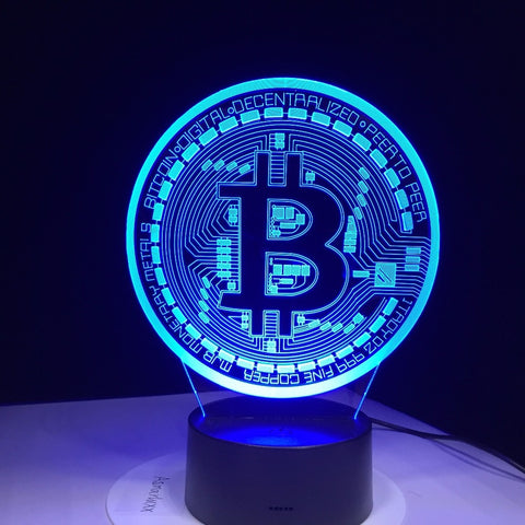 3D Led Bitcoin Lamp Sign - Jonjarash Shop