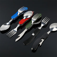 4 in 1 Outdoor Tableware (Fork/Spoon/Knife/Bottle Opener)