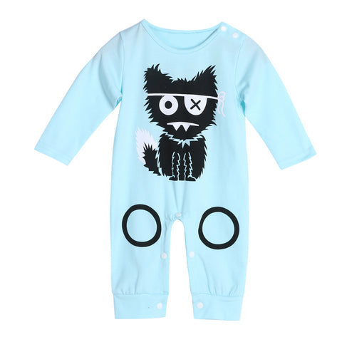 Monster Cartoon Baby Long Sleeve Rompers - Jonjarash Shop