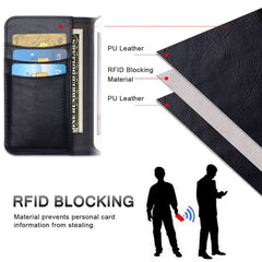 Iphone Leather Case RFID Magnetic Detachable Flip Wallet
