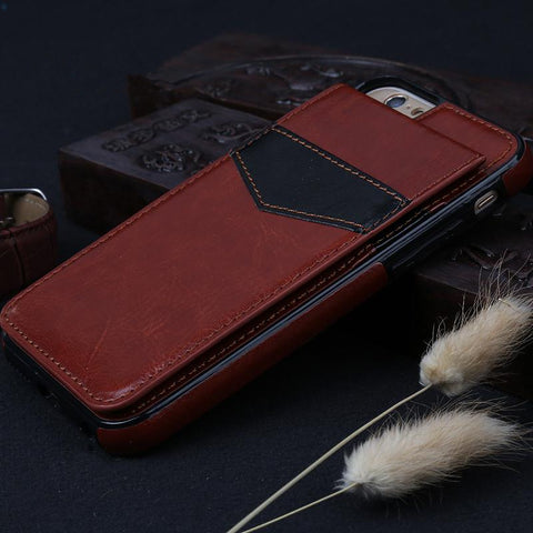 Leather Case For iPhone 7 8 Plus 6 6s Plus X Case Wallet Card Magnetic Flip Cover - Jonjarash Shop