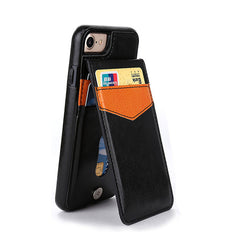 Leather Case For iPhone 7 8 Plus 6 6s Plus X Case Wallet Card Magnetic Flip Cover