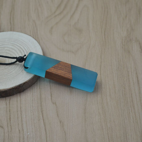 Vintage Men and Women Fashionable Wood Resin Necklace Pendant - Jonjarash Shop