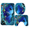 Image of Ocean Dolphin Deep Sea Shower Curtain Bathroom Set - Jonjarash Shop