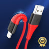 Image of Hi-Tensile USB Cable Fast Charging 2A For iPhone X 8 7 6 Plus 6s 5 5s Se iPad 2 Mini - Jonjarash Shop