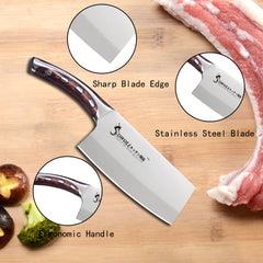 Stainless Steel Kitchen Knives with Resin Fibre Handle