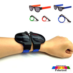 Unisex Slap Sunglasses Polarized  Sunglasses Wristband Fold