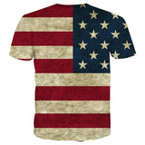 USA Flag Striped Unisex 3d Tshirt - Jonjarash Shop