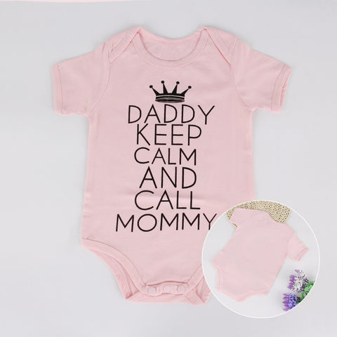 Daddy keep Calm Baby Girl Clothing - Jonjarash Shop
