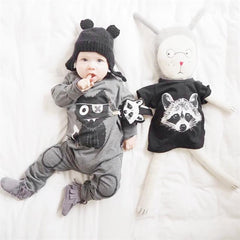 Monster Cartoon Baby Long Sleeve Rompers