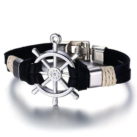 Classic Sailing Leather Bracelet - Jonjarash Shop