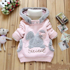Cartoon Rabbit Fleece hooded jacket