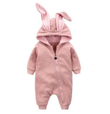 Cute Rabbit Ear Hooded Baby Rompers - Jonjarash Shop