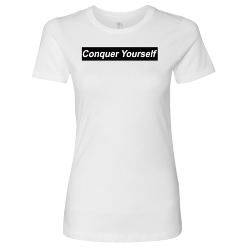 Conquer Yourself Women T-Shirt - Jonjarash Shop