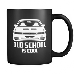 Old School Is Cool Black Mug