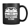 Image of Old School Is Cool Black Mug - Jonjarash Shop