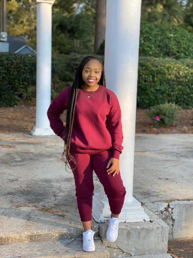 Niah Jogger Set Dark Burgundy