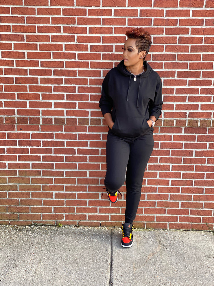 Kiana Jogger Set Black
