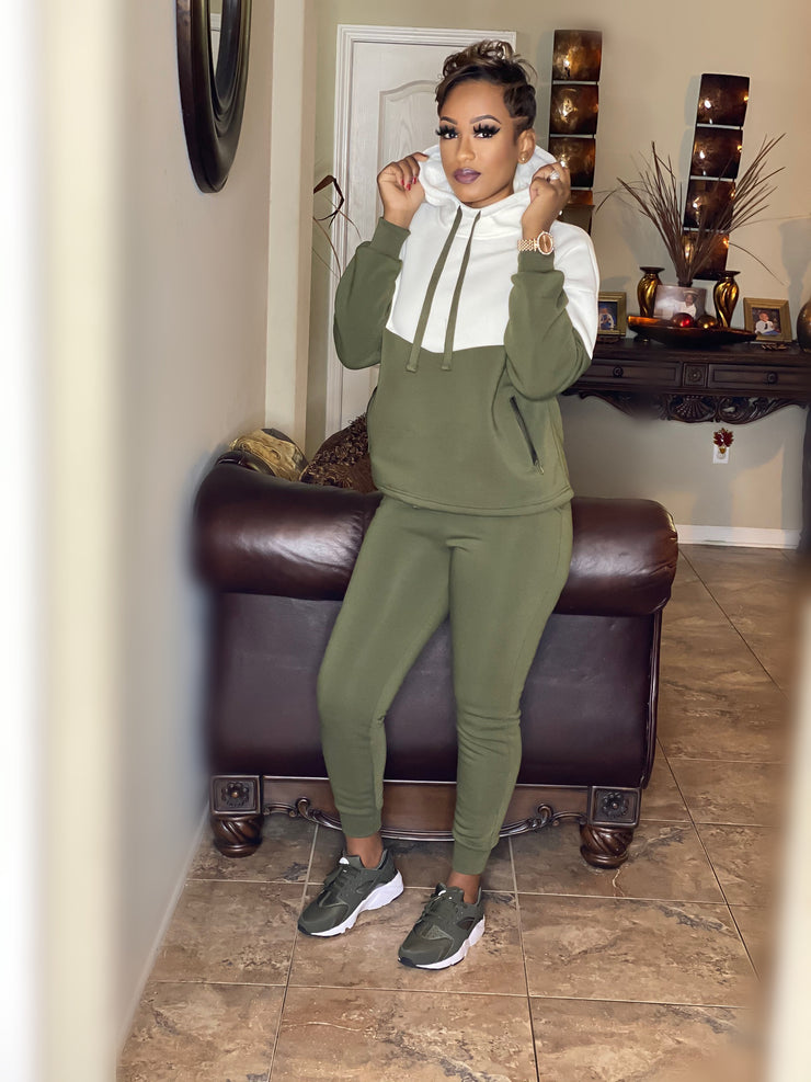 Two-Toned Jogger Olive