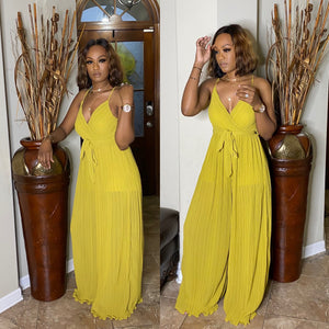 Perfect Night Out Jumpsuit MUSTARD