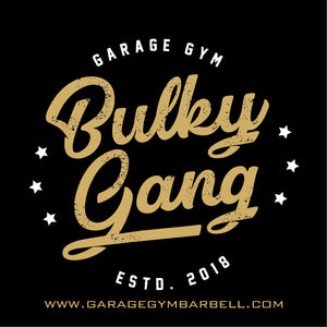 BULKY GANG Banner 3x3 - Garage Gym Barbell