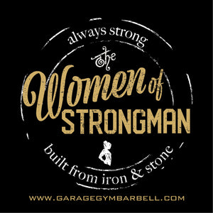 WOMEN OF STRONGMAN Banner 3x3 - Garage Gym Barbell