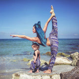Blue Zags Harem Buddha Pants Women on Beach