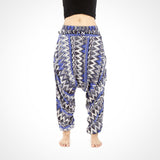 Blue Zags Harem Yoga Dance Pants Unisex