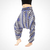 Blue Zags Harem Yoga Pants Unisex Buddha Pants UK